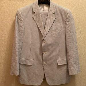 JoS. A. Bank Vintage Seersucker Gingham suit 43R
